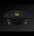 creative of taxi driver cap vector image vector image