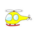 cute cartoon yellow helicopter vector image