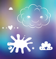 Cute designs on blurred background vector image vector image