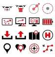 Drone control icon set vector image