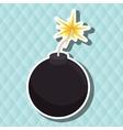 explosive cartoon design vector image vector image
