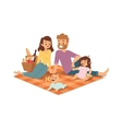 Family picnicking summer