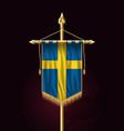 flag of sweden festive vertical banner wall vector image vector image