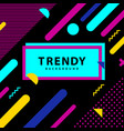 frame with trendy geometric background vector image vector image