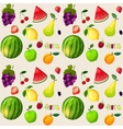 Fresh fruits seamless pattern vector image vector image