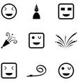 fun icon set vector image