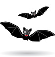 Funny vampire bat on a white background vector image vector image
