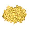 gold brush isolated on white background golden vector image