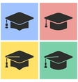 Graduation icon set vector image vector image