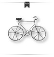 hand drawn vintage icon with bicycle vector image
