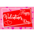 happy valentine s day horizontal colorful poster vector image vector image
