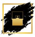 information desk sign golden icon at vector image