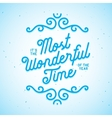 it is most wonderful time year vector image