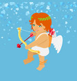 little angle with white wings festive card vector image