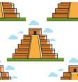 mayan pyramid mexico landmark seamless pattern vector image