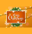 merry christmas with lights garland vector image