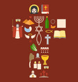 messianic judaism sign and biblical icon vector image vector image