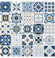 Moroccan pattern decor tile texture with blue