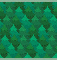 mysterious pattern with coniferous forest vector image vector image