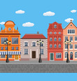 old town village main street vector image vector image