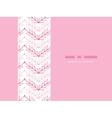 Pink lineart leaves chevron horizontal seamless vector image