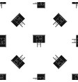 project of house on a board pattern seamless black vector image