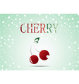 Red cherry with christmas theme vector image vector image