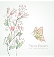 romantic floral illustration vector image vector image