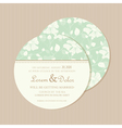 round invitation card vector image vector image