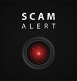 scam alert indicator vector image vector image