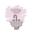 scene of handwash bathroom with dripping pipes vector image