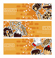 set of horizontal banners about bakery vector image vector image