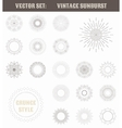 Set of vintage sunburst Geometric shapes and vector image