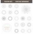 set vintage sunburst geometric shapes and vector image vector image