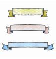 set watercolor ribbon banners vector image vector image