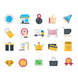 shopping and retail icons set vector image