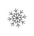 snowflake of winter icon vector image vector image