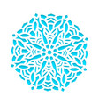 template snowflakes laser cut and engraved vector image
