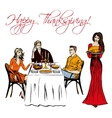 Thanksgiving dinner isolated vector image vector image