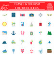 travel flat icon set travel symbols collection vector image vector image