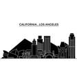 usa california los angeles architecture vector image vector image