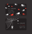 web spider pattern business card spidery vector image