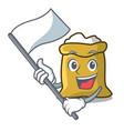 with flag flour mascot cartoon style vector image