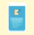 writing on notes mobile vertical banner design vector image