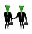 businessman handshake financial greet people vector image