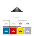 Mexican mayan pyramid icon vector image