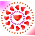 Heart icon color design pattern circle shape pink vector image