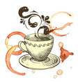 a cup of fragrant coffee vector image vector image