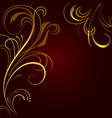 abstract background with golden ornament vector image