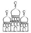 arabic castle building facade vector image vector image
